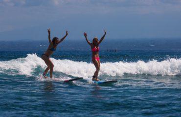Surfing with Mojosurf in Nusa Lembongan