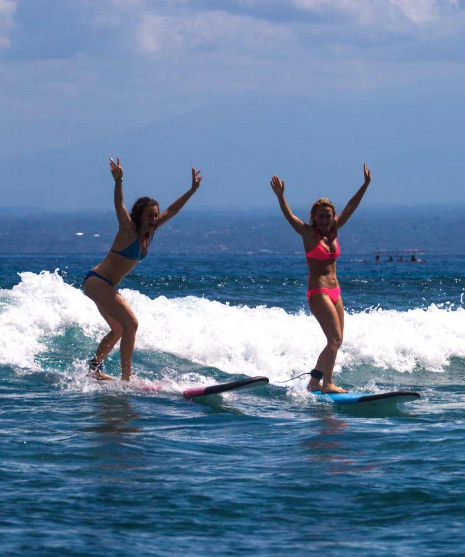 Surfing in Nusa Lembongan