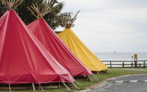 Spot X beachfront Tipis