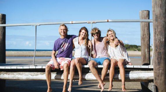 On the bridge at Spot X Surf Camp