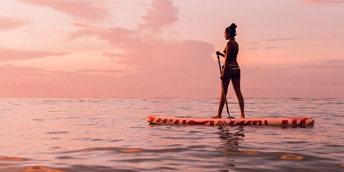paddle boarding in Sumbawa