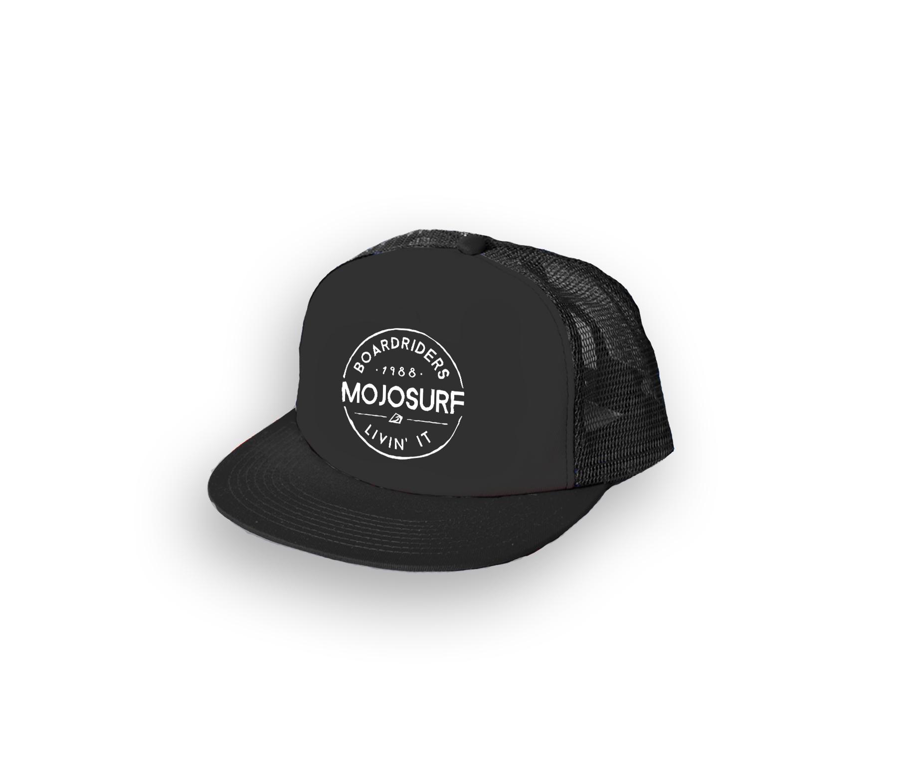 Mojosurf_snapback_flatpeak trucker_black patch (2)
