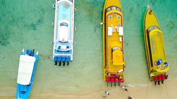 nusa lembongan beach above